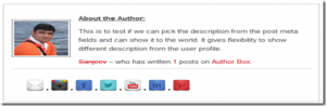 AuthorBox Plugin With Different Description