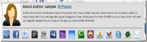 social author bio