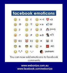 Facebook Shortcut Keys and Facebook Emoticons List