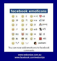 Facebook Shortcut Keys and Facebook Emoticons List