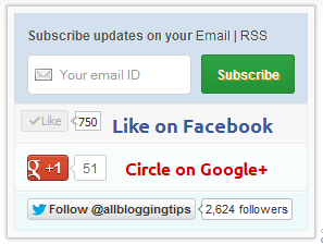 Stylized Subscription Widget for blogger
