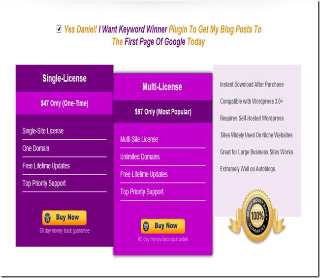 keyword winner pricing and details