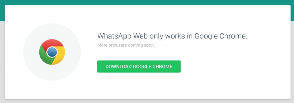 google chrome whatsapp
