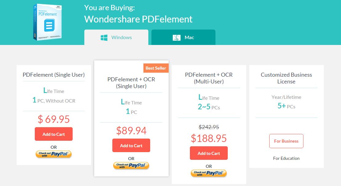 pdf element pricing