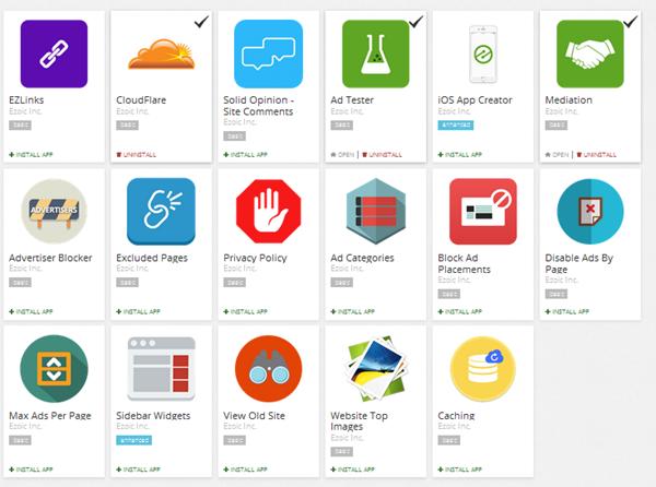 app store of ezoic
