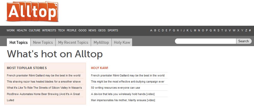 how to build a content aggregator website